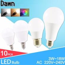 LED lamp Dimmable led bulb E27 E14 AC 220V 240V Smart IC Real Power lampada 24W 20W 18W 15W 12W 9W 6W 3W LED Bombilla Ampoule