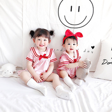 Sisters Wear Newborn Baby Clothes Outfits New Summer School