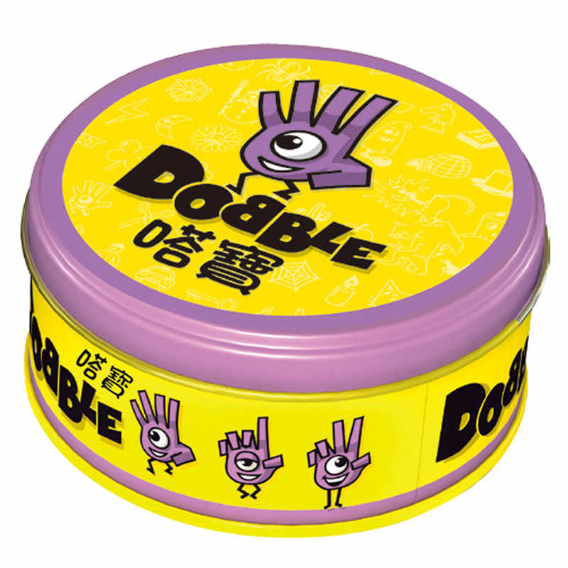 Dobble כרטיס משחק שולחן לוח משחק עבור Dobbles ילדים ספוט כרטיסי זה ללכת קמפינג מתכת קופסא פח צעצועים