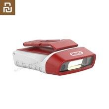 Youpin Beebest 100LM LED אינדוקציה ראש מנורת 5 מצבים 180 ° USB נטענת עמיד למים אופני אור נייד אינדוקציה אור