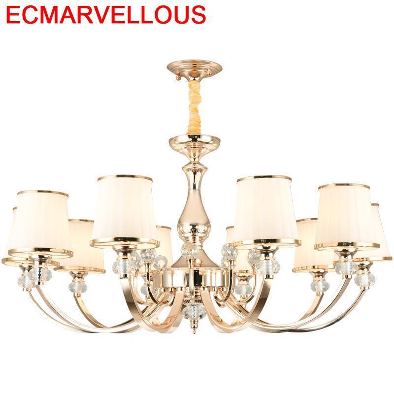 Ontwerp Europese Home Deco Verlichting Hanglamp Armaturen Kristal Armatuur Suspendu Opknoping Lamp Loft Lampen Moderne Hanglamp