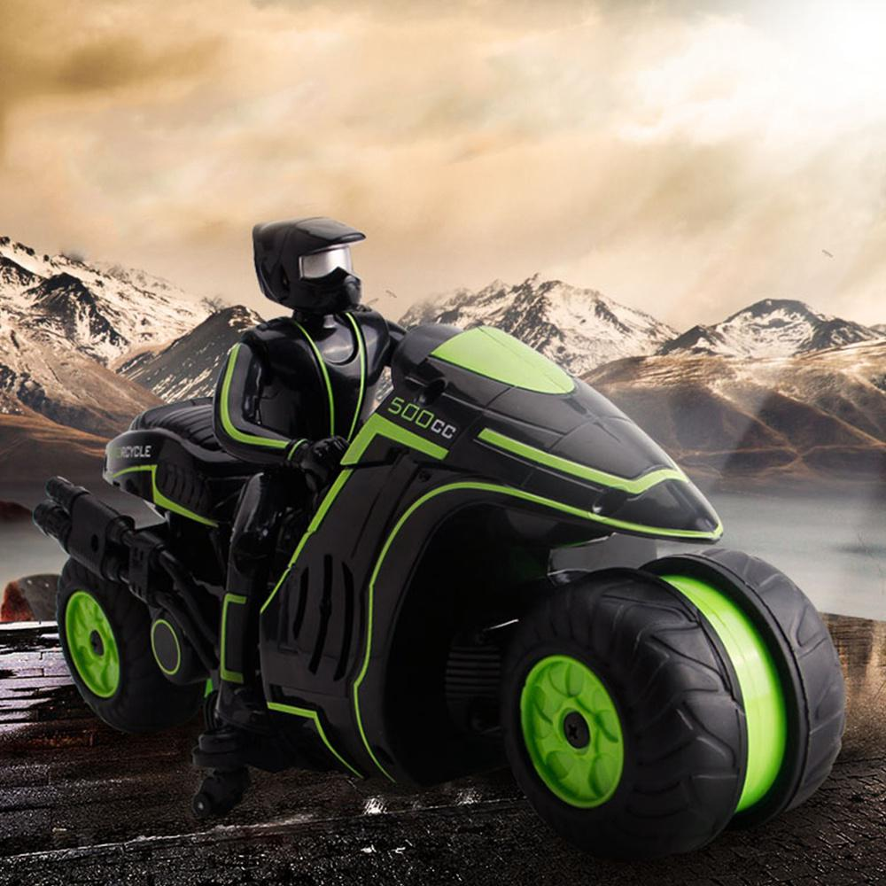 RC Motorcycle Kids 360 Degree Rotate Electric Remote Control Stunt Car 2.4Ghz Mini Drift Racing Motorbike Boy Toys for Children
