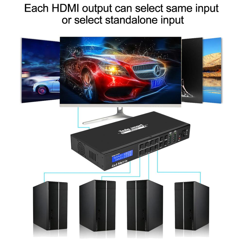 Image 3 - 4K 4x4 HDMI Matrix 4 In 4 Out Ultra HD 4K with LAN RS232 Up to4K*2K(3840*2160)@30HZ HDCP 3D HDMI 1.4 Complianttesla smartversion  -