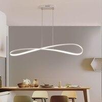Lampadario moderno kolye ışıkları LED çubuk mutfak ofis süspansiyon kablosu alüminyum dalga asılı kolye ışıkları bez mağazaları