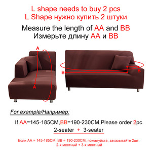 Image 3 - funda sofa elástica slipcovers l forma capas de sofá para sala de estar elastano barato secional capa de sofá 1/2/3/4 seater estiramento