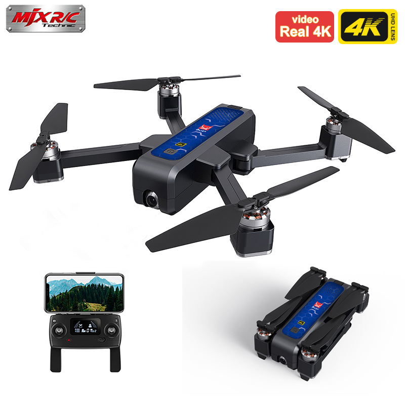 MJX Bugs 4W B4W Real 4K FHD Camera 5G WIFI GPS Brushless Foldable Drone Anti-shake 1.6KM 25 Minute Optical Flow RC Quadcopter