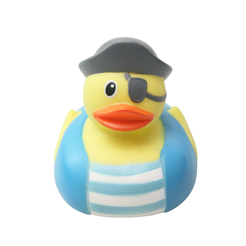 5Pcs//pack cute 7*6cm colorful rubber float squeaky sound duck baby bath toys