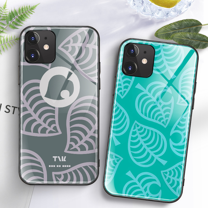 Onnlink Phone Case Around Animal Crossing For IPhone11 Pro Max X XR XS Tempered Glass Silicone Phone Case For Iphone 7 8 Plus