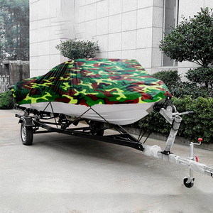 Image 4 - Boat Cover All weather Protection Full Covers with Adjustable Strip and Buckle Camouflage Style Yacht Outdoor Protection Cover