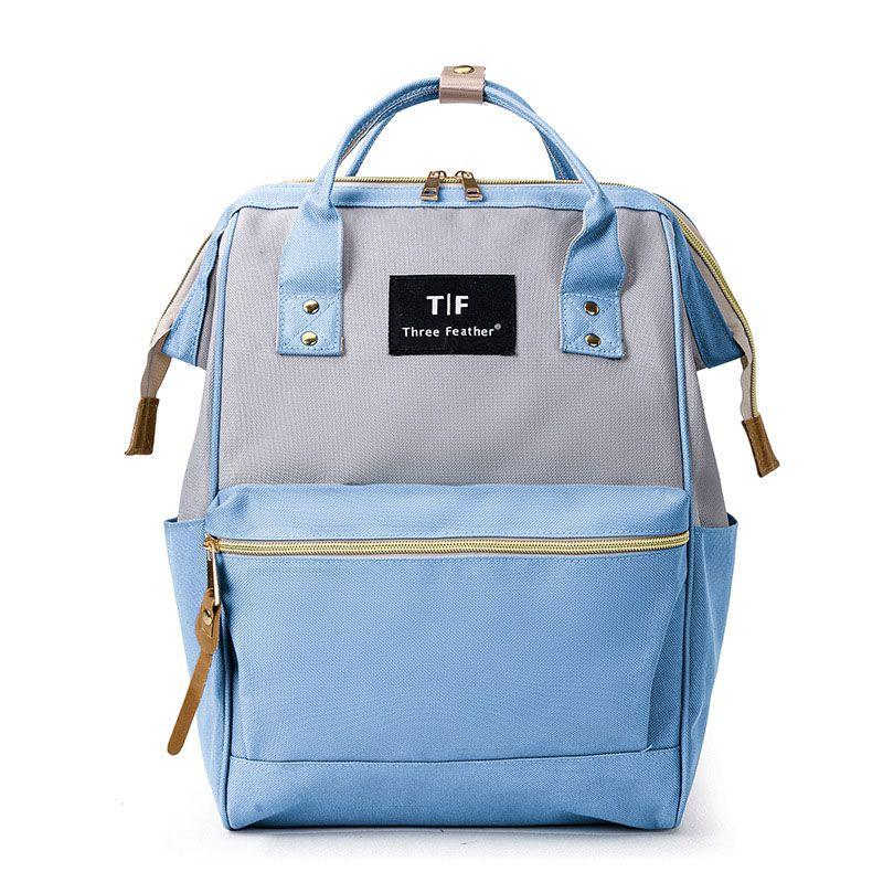 Модный рюкзак для подгузников для мам, Большая вместительная сумка для подгузников, водонепроницаемая сумка для подгузников, дорожная сумка для детских колясок - Цвет: QLH