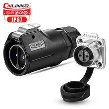 CNLINKO Новый 2pin M28 водонепроницаемый Промышленный разъем, Электрический автомобильный зарядный круговой штекер, гнездовая розетка с блокировкой 50A