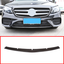 цена на Carbon Fiber ABS Front Bottom Grill Grid Grille Bumper upper Cover Trim For Mercedes Benz W213 E Class 2017-2019 Car Accessories