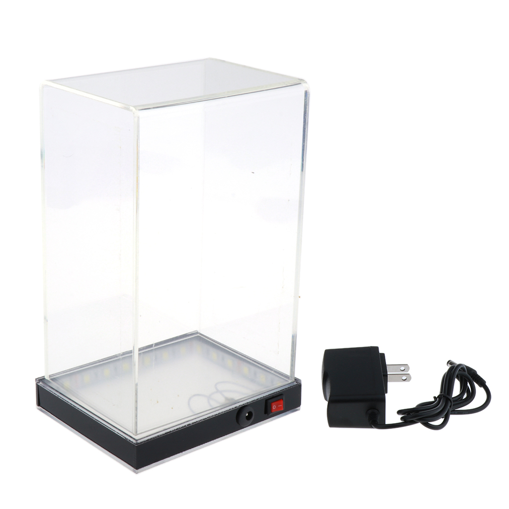 Clear Display Case Model Show Box with LED Lights for MG 1:100 Figure Toys