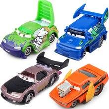Disney Pixar – Petite voiture de dessin animé Cars 2 pour enfant, véhicule miniature de Badger, Flame, Slugs, DJ Wenge bleu, groupe des quatre méchants, jouet en métal, échelle 1:55, idée cadeau,