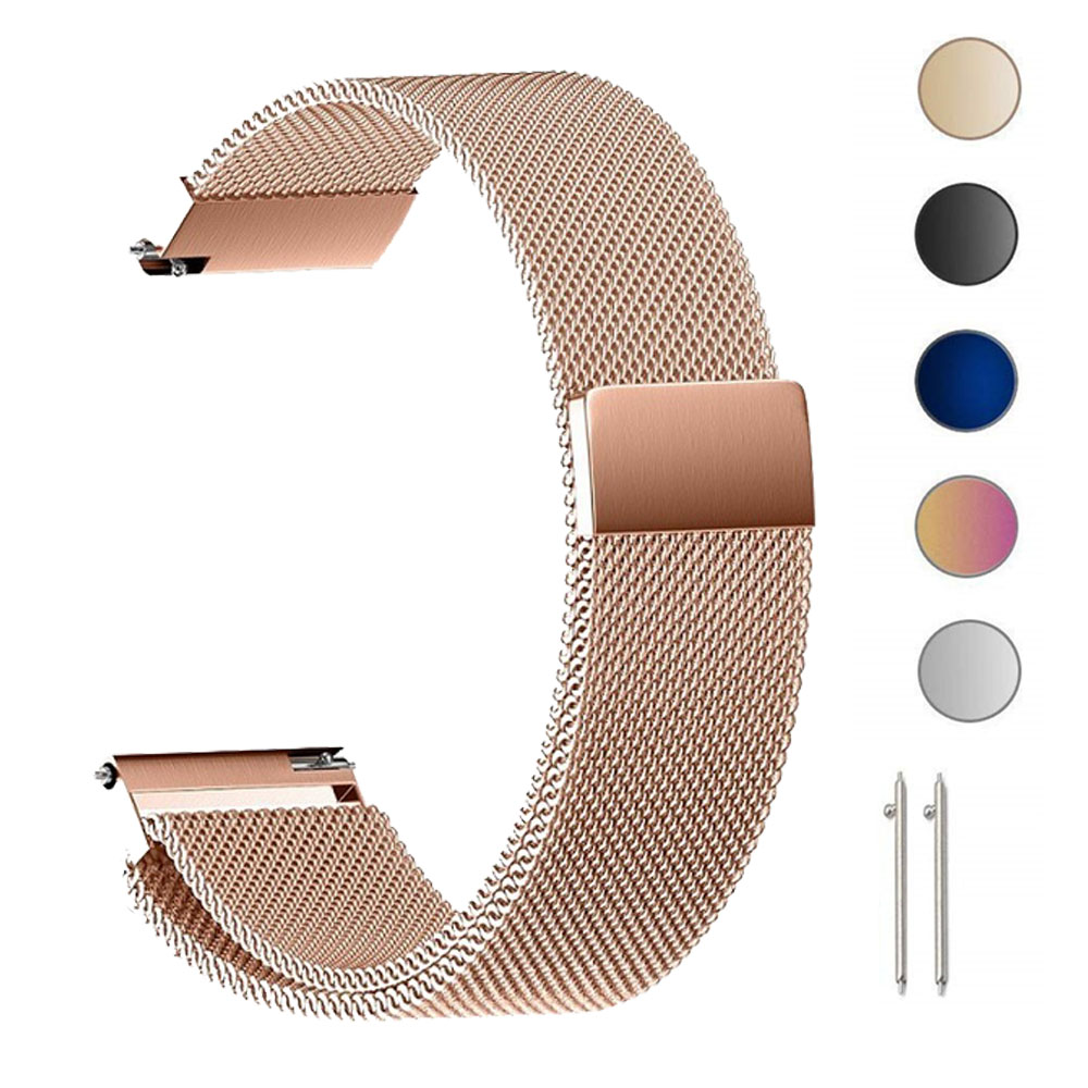 18 20 22MM Milanese Watch Band For Garmin Vivoactive 3 4 Watch Smart Band Bracelets Strap For Garmin Vivoactive3 4 4S Stainless