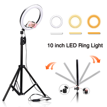 16/26cm LED Ring Light Photo Studio Camera Light Photography Dimmable Video Light Fill Light Tripod Stand For Makeup Video Live led selfie ring light tripod 26cm photo studio photography photo fill ring lamp with tripod stand for youtube live video makeup
