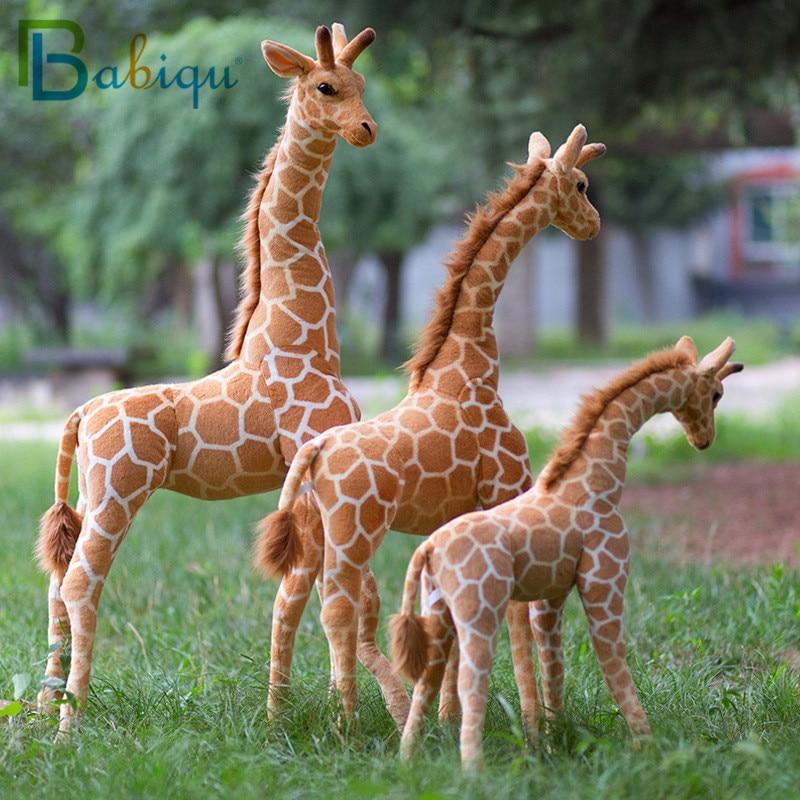 В переменного тока, 50-140 см гигантские реальной жизни в виде жирафа, плюшевые игрушки милые мягкие кукла