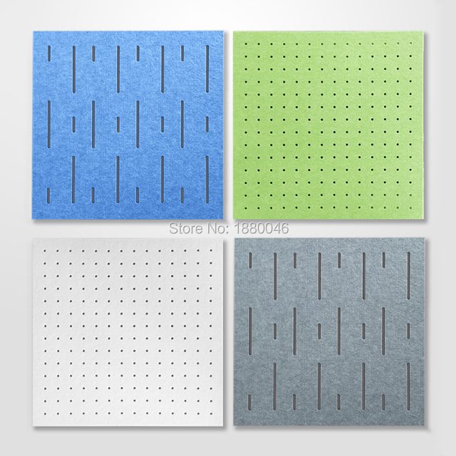 1box 10pcs size 60x60cm Eco-friendly Perforated Polyester Material acoustic panels sound absorber acoustic treatment wall panels