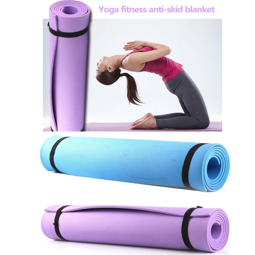 6mm Wear-resistant EVA Yoga Mat Non Slip Carpet Pilates Gym Sports Exercise Pads For Fitness Beginner