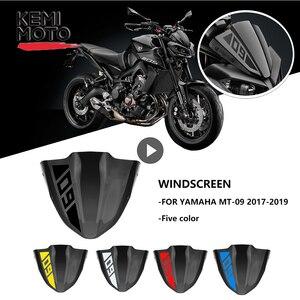 For Yamaha MT 09 MT09 Windshield Windscreen 2017 2018 2019 Motorcycle Accessories FZ 09 FZ09 Windshield Wind Screen Stickers