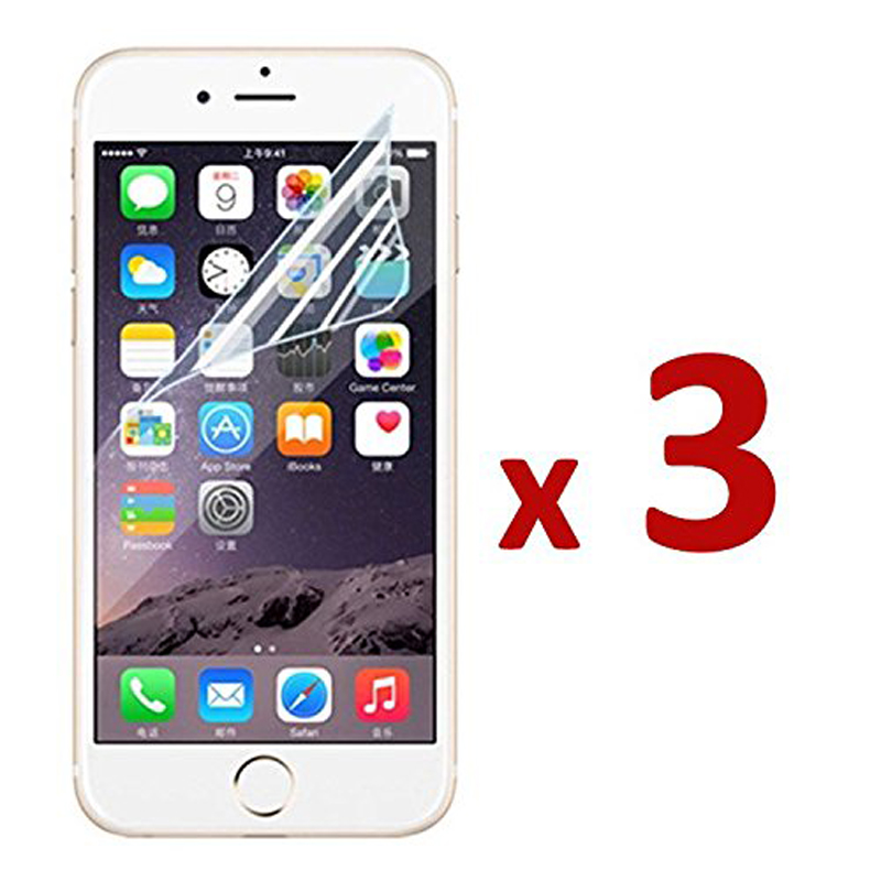 3 Pcs Soft Screen Protector For iPhone 11 PRO Max 6 6s Plus SE 5 Transparant Led Plastic Film Protective Glossy Foil Not Glass