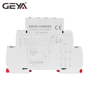 Image 4 - Free Shipping GEYA GRV8 10 NEW 36mm Width 3 Phase Voltage Monitoring Relay with Reset Time 0.1s 10s