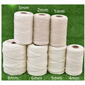 1/2/3mm 4mm 5mm 6mm 8m Macrame Rope Twisted String Cotton Cord For Handmade Natural Beige Rope DIY Home Wedding Accessories Gift