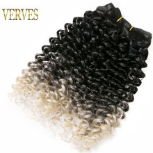 Synthetic Weaving Crochet Braid 65g/pack Hair 6 piece Curly Braid Heat Resistant Ombre Braiding Hair Weft Extensions Curly Wave(China)