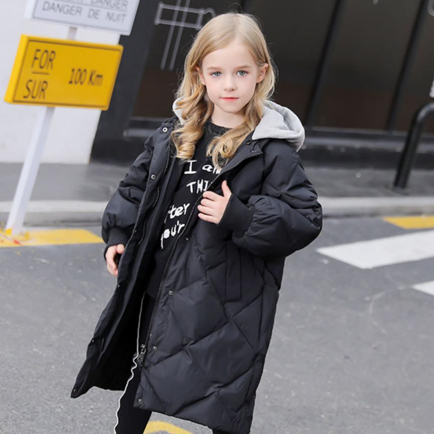 Chaqueta de plumón para niños 2019 invierno nueva chaqueta cálida con capucha para niños niñas de manga larga prendas de vestir más gruesas modis chaqueta de plumón para niños Y1910