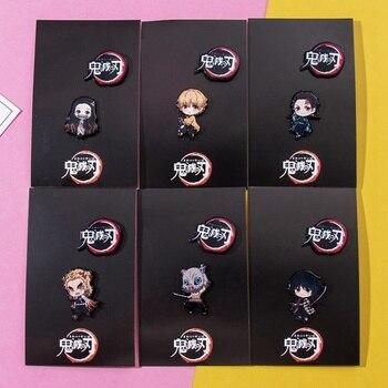 2Pcs/Set Demon Slayer Cartoon Icons Style Enamel Pin Kimetsu No Yaiba Buttons Badges Brooch Anime Lovers Denim Shirt Lapel Pins - discount item  30% OFF Costumes & Accessories