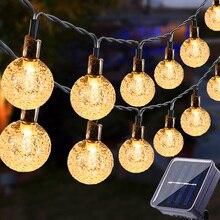 100 LEDS Crystal Ball 5M 12M Solar Power Supply LED String Light Fairy Light Garland Garden Outdoor Christmas Decoration Lamp