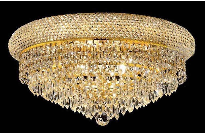 Lámpara de techo de cristal de lujo K9 de Phube Lighting Empire Gold, lámpara de techo de cristal, Lustre de iluminación, envío gratis