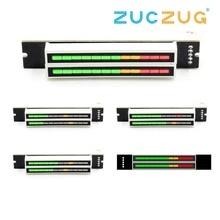 Мини двойной 12 уровень индикатор VU метр стерео усилитель доска регулируемый светильник скорость доска с режим АРУ Diy наборы