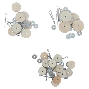 10 zestawów złącza drewniane złącza dla Handmade miś Craft dzieci zabawki dla dzieci DIY Scrapbooking instrukcja akcesoria rękodzieła tanie i dobre opinie KittenBaby Other CN (pochodzenie) Doll Joints Dolls Bears Unisex Styl życia 12mm-30mm doll joint making accessories