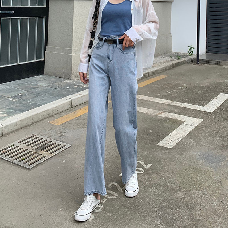 Long Jeans Female Loose 2020 Autumn High Waist Straight Pants Boyfriend Jeans For Women Straight Pants Jeans Mujer Drop Shipping