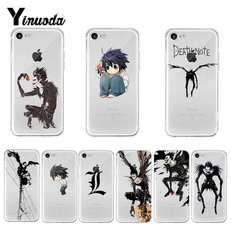 Yinuoda Death Note Belakang Ponsel Cover Lembut TPU Case untuk Apple iPhone 8 7 6 6S Plus X XS MAX 5 5S SE XR Cover