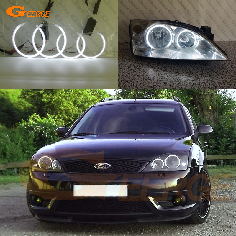 For Ford Mondeo MK3 2000 2001 2002 2003 2004 2005 2006 2007 Excellent CCFL Angel Eyes Kit Halo Ring Ultra Bright Illumination