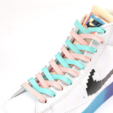 Two Color Laces 2 Different Colors Candy Color Matching Color Contrast Personality Fashion Sports Laces Double Flat Laces