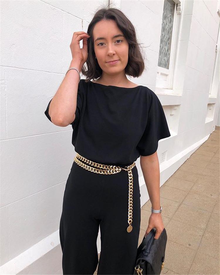 Hirigin Sexy Women Belts 2019 New Streetwear Metal Chain Decorate Dress Belt Adjustable Rough Whip Chain Women Fashion Design