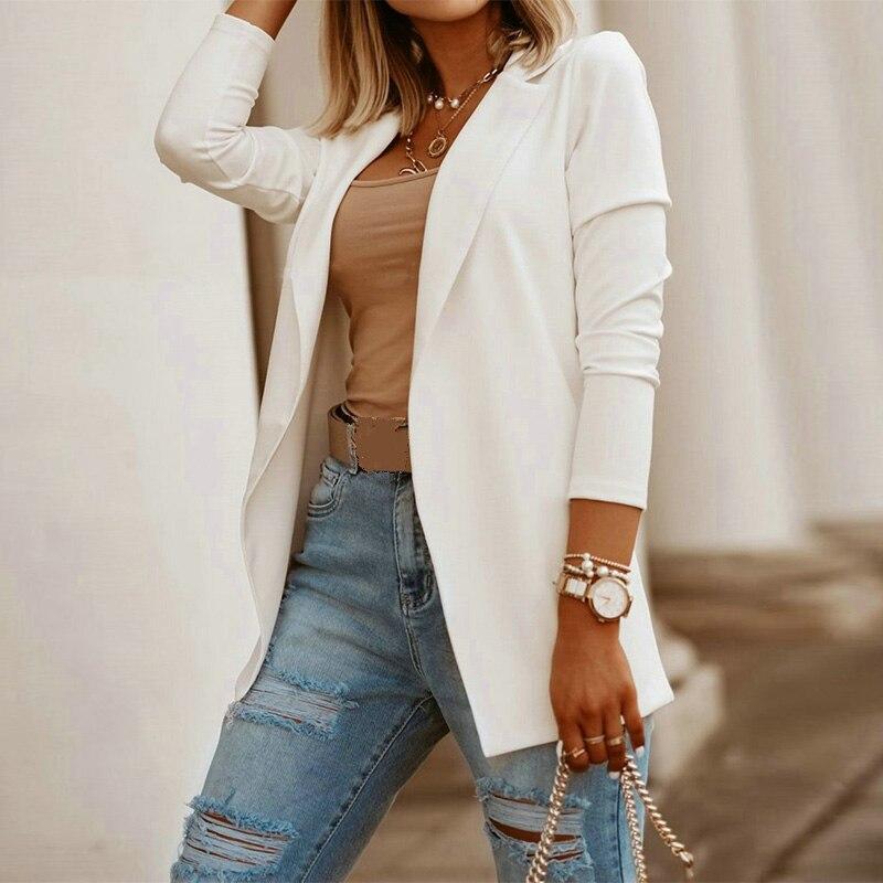 Autumn Thin Cardigan Coats And Jackets Women Chaqueta Mujer Office Lady Slim Coat Elegant Moda Feminina High Street Top 2020