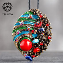 Pendentifs avec perles colorées pour femmes, collier Vintage de célébrité, Long collier sans collier pour cadeau de fête des mères