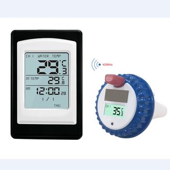 Bezprzewodowy basen termometr jacuzzi Home Swim Spa termometr wodny kalendarz budzik-40 ~ 60C wodoodporny czujnik zewnętrzny tanie i dobre opinie easyover Czujnik temperatury Rohs CN (pochodzenie) 0124 50 ° C-69 ° C DIGITAL Pool Thermometer Bateria AAA Stacja dokująca
