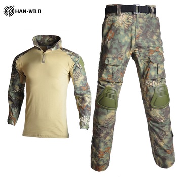Tactical Suit Military Uniform Suits Camouflage Hunting Shirts Pants Airsoft Paintball Clothes Sets with 4 Pads&Plus 8XL 4