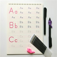 1 pcs Children Alphabet ABC groove copybook English 26 alphabet Exercise book Kindergarten baby pre-school to write the text