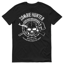 2019 Summer Style 100% cotton Zombie Hunter Skull Bullets Paintball Tactical Mens T-Shirt Tee shirt