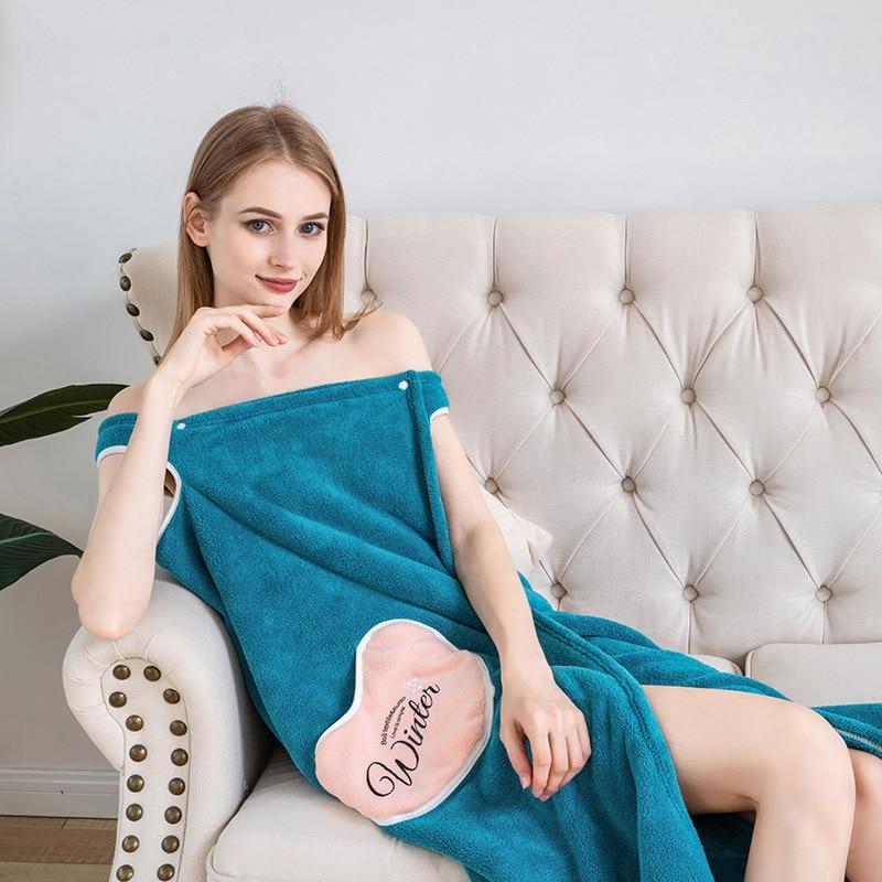 Peignoir en microfibre pour femmes, serviette de bain douce pour adultes, pour la maison, pour le bain et le Sauna