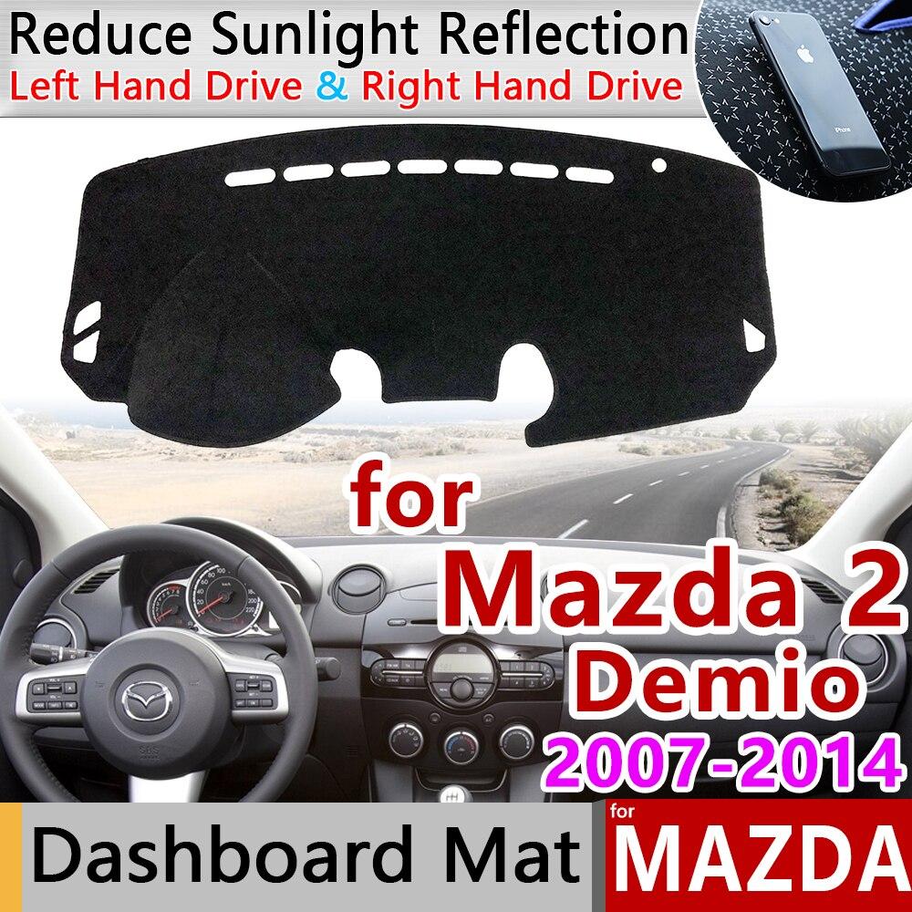 For Mazda 2 Demio 2007~2014 DE Anti-Slip Mat Dashboard Cover Pad Sunshade Dashmat Carpet Accessories Mazda2 2008 2009 2010 2013