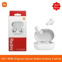 Xiaomi-auriculares AirDots 2 TWS, auriculares inalámbricos con Bluetooth 2021, auriculares internos con micrófono, auriculares estéreo de graves, color blanco, 5,0
