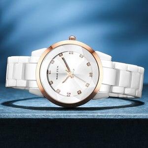 Image 3 - NAKZENの女性の腕時計の方法偶然の女性ブレスレットの多彩な陶磁器の腕時計の上のブランドの贅沢な服の女性の時計