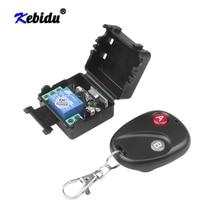 Kebidu Interruptor de Control remoto inalámbrico Universal, DC12V, 10A, 433MHz, transmisor de teletrabajo con receptor